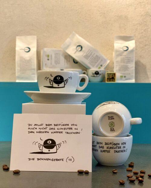 3.Bohnengebot  <br>Rudi Klein – Kaffeefabrik Tasse – 200ml <br>
