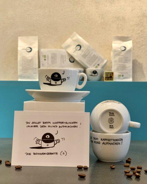 2.Bohnengebot  <br>Rudi Klein – Kaffeefabrik Tasse – 200ml <br>